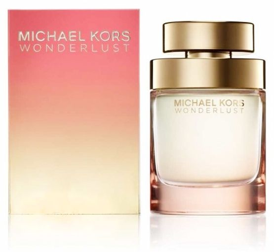 Michael Kors Wonderlust. Top notes of almond milk are accompanied by heliotrope placed at the hart of the fragrance. The base of the composition provides benzoin, a natural resin from Thailand leaving the impression of warmth, and the spicy sweetness of cinnamon.