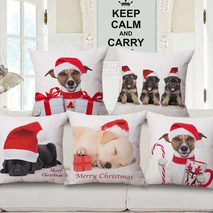 Creative Christmas Pillow Case Cute Animal Pillow Cover Christmas Pillowcases Christmas Throw Pillows Covers Throw Pillows Christmas