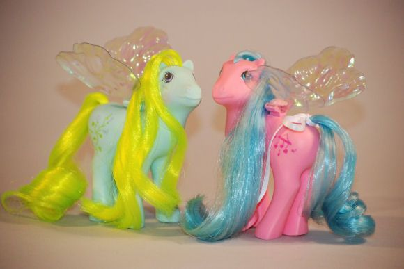 Flutter ponies. k remember how the wings broke in like, 2 seconds? still loved them