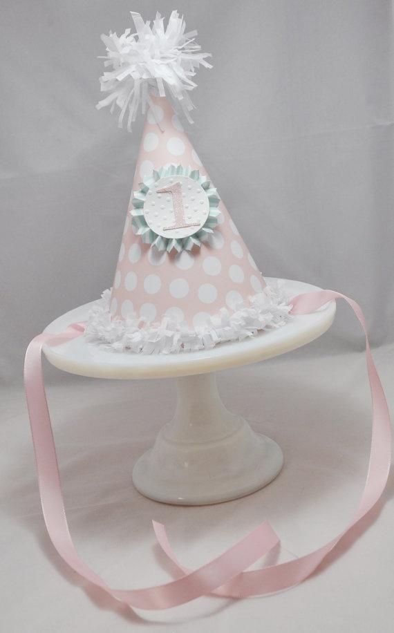 1st Birthday Party Hat Girl - Shabby Chic via Etsy