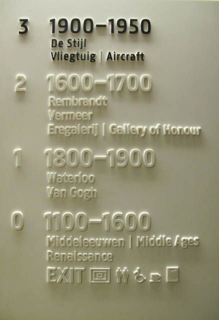 Signage at the Rijks Museum, Amsterdam