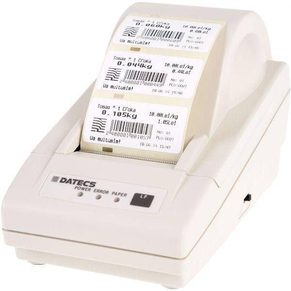 Imprimanta Datecs LP-50 este o imprimanta de etichete compacta si accesibila ca pret, ideala in cazul magazinelor de mici dimensiuni. In cazul supermarketurilor poate fi conectata  la un cantar electronic pentru a tipari etichete in cazul cantaririi de produse precum fructe sau legume. Poate fi achizitionata online pe www.datecs.ro
