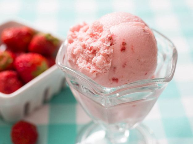 Even at the best ice cream shops, strawberry ice cream is usually the iciest flavor of the lot, and it often doesn't taste anything like fresh, sweet strawberries. This ice cream nails that fresh berry flavor without compromising on a rich, creamy texture.