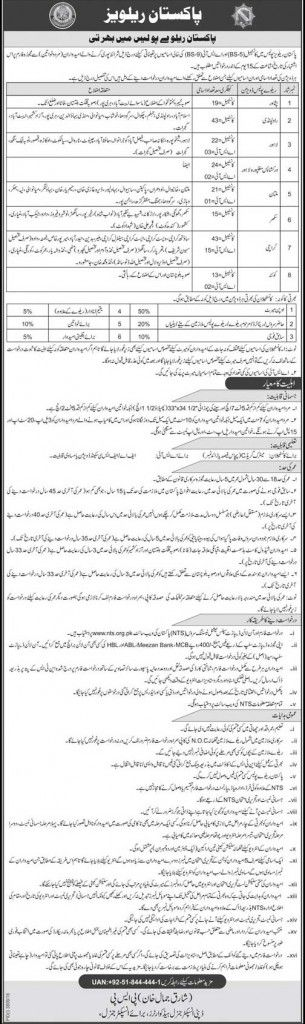 Last Date :09th February, 2017 Location : Pakistan Organization : Pakistan Railway Police Education Required : FA, FSc, Matric Today on 26th February, 2017 I am going to enlist fresh job from Pakistan Railway Police Jobs 2017 For Constable & ASI Current NTS. Pakistan Railway Police is seeking and looking to hire smart, capable, energetic and dynamic applicants are required to apply for the following position named as (Constable & ASI) are the vacancies which needs to be filled by the...