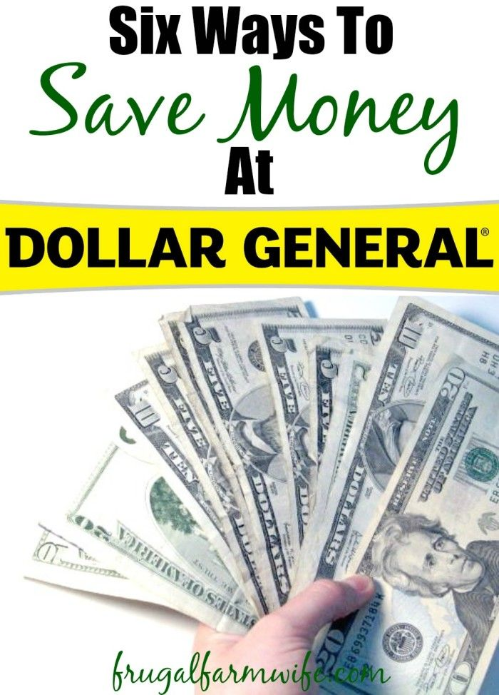 Six Ways To Save Money At Dollar General. these tips have saved me SO much money!