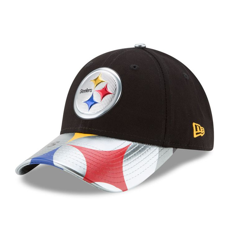 Pittsburgh Steelers New Era Women's 2017 NFL Draft On Stage 9FORTY Adjustable Hat - Black