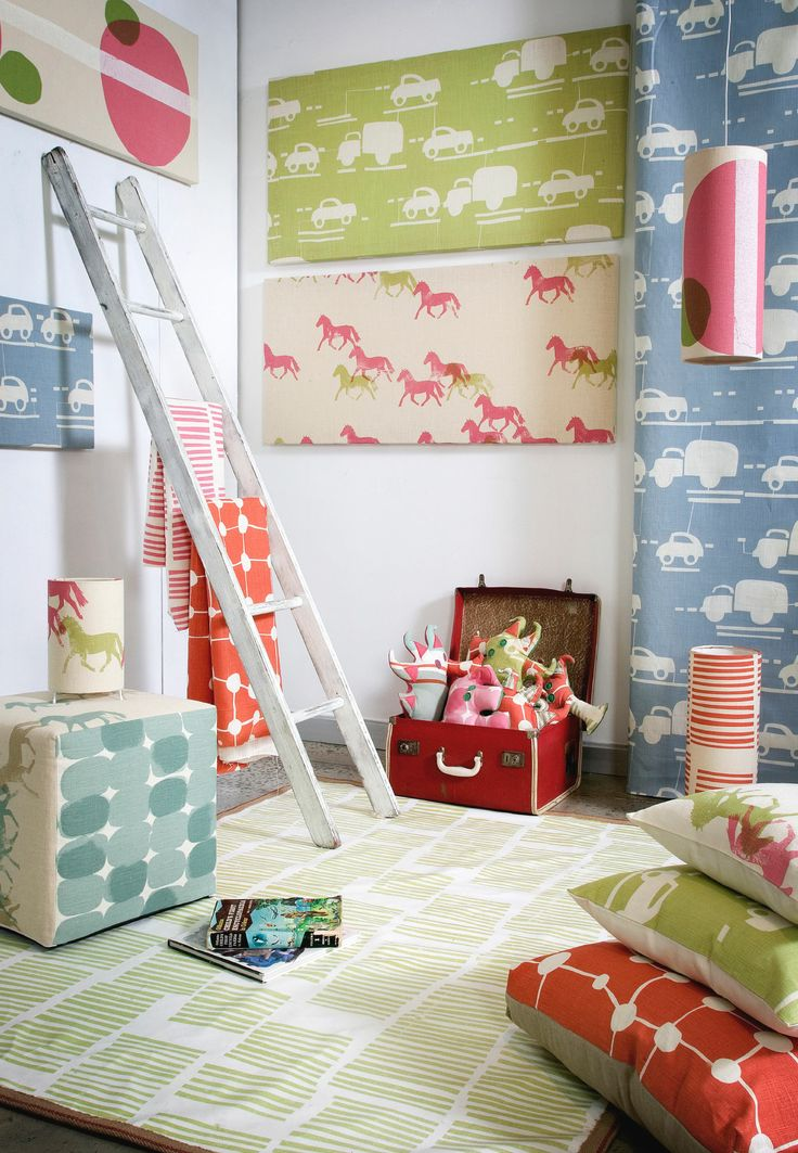 Play time! Panels, rug and curtains by Clothfabric