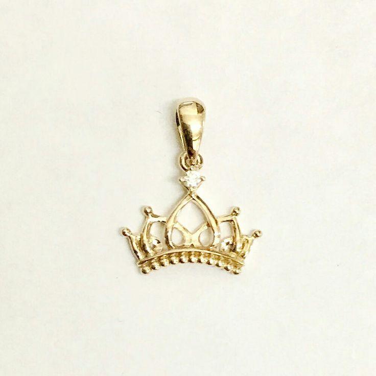 Diamond Gold 75% Crown Pendant  #folomefashion #crown #liontin #pendant #gold #diamond #fashion #accessories #fashionaccessories #jewelry #jewellery