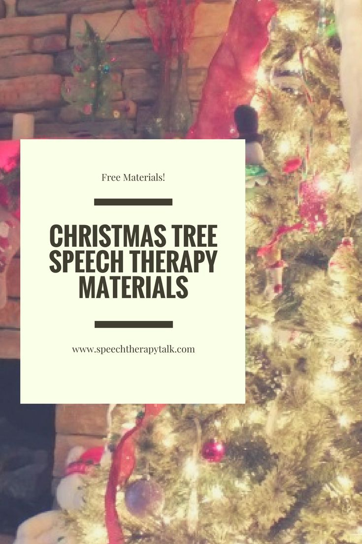 FREE Christmas tree speech therapy materials. Fun, effective, and adaptable to any goal.