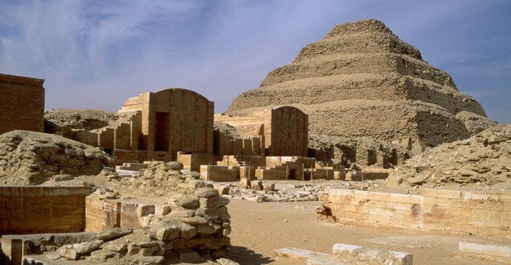 pyramid of djoser, limestone, egypt, ancient egypt, egyptian pyramids http://www.history.com/topics/ancient-history/ancient-egypt/pictures/egyptian-pyramids/ruined-pyramid-complex-of-zozer-sakkara ALOT OF GOOD PICS