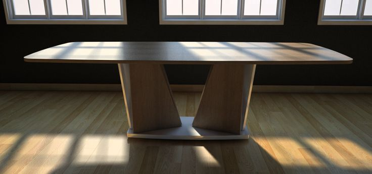 Azimuth dining table by prospec|designs. Design granted to IRVEN Furniture Solutions.