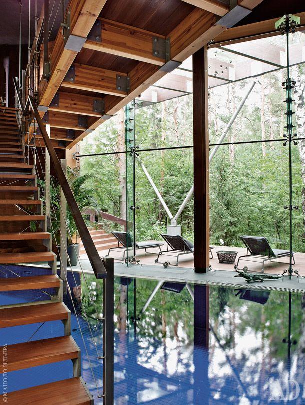 Зал с 25-метровым бассейном