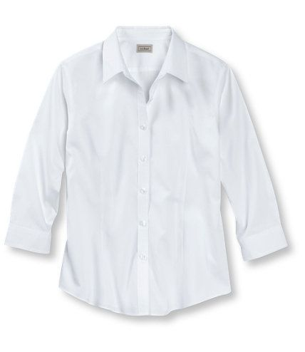 Women 39 s wrinkle resistant pinpoint oxford shirt three for Ll bean wrinkle resistant shirts