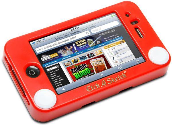 Etch a Sketch iPhone caseIphone Cases, Iphone 4S, Etchasketch Iphone, Stuff, Phones Cases, Iphone 4 Cases, Etchings A Sketches Iphone, Products, Funny Iphone