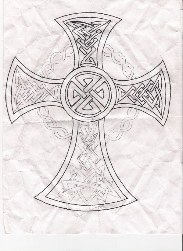 Celtic Cross Drawings | Celtic Cross Tribal Tattoo