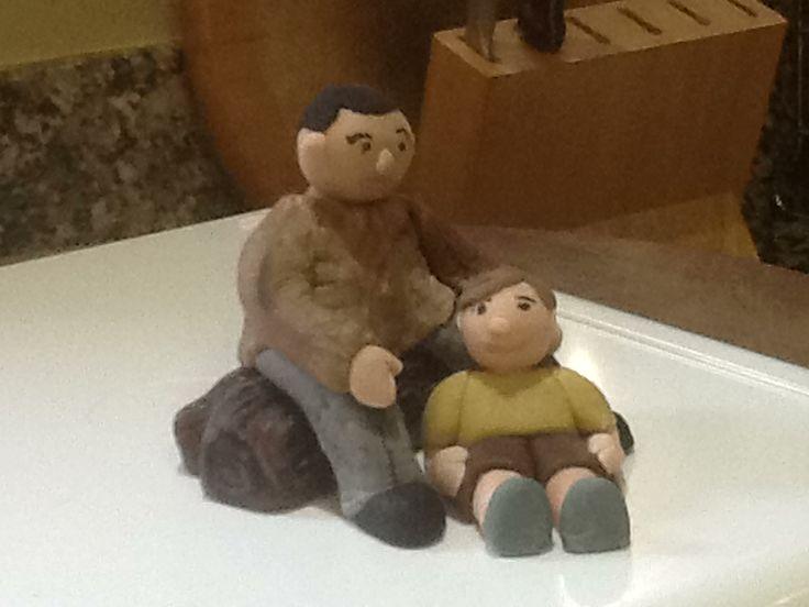 Fondant figures - Kyle and Curtis - Adoption Cake