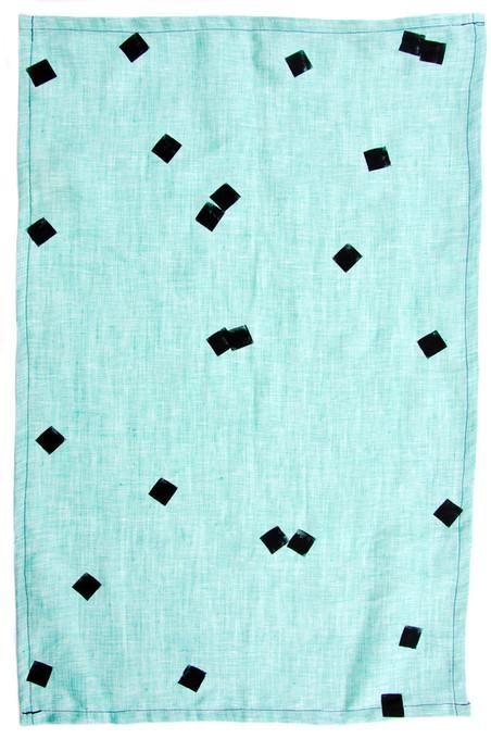 Floating Confetti Tea Towel / LEIF >>  Colorful background, super simple, non-directional, one color print.