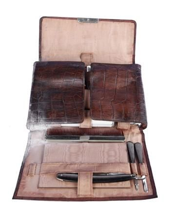 """Charles """"Lucky"""" Luciano's Leather Grooming Kit"""