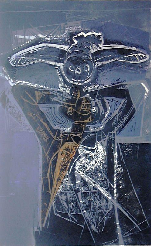 Michael Rothenstein - The Owl III, 1955, Linocut