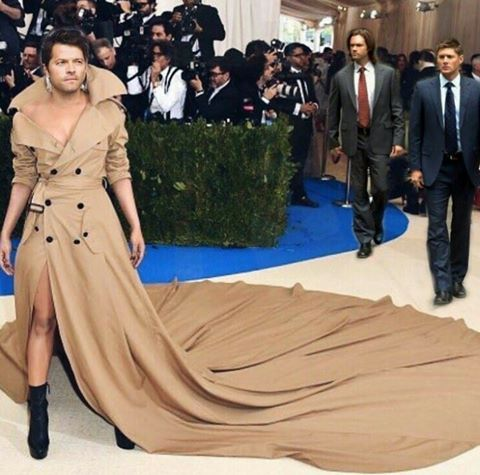 """This is awesome.   I remember seeing a picture of that """"gown"""" at the Met Gala and thinking, basically, WTF.  I like it much better this way!"""