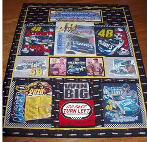 Pictures of T-Shirt Quilts Help You Design a Quilt: NASCAR T-Shirt Quilt