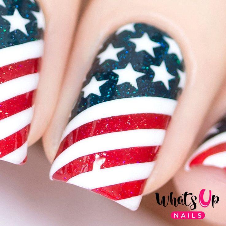 American Flag Stencils for Nails, Nail Stickers, Nail Art, Nail Vinyls #WhatsUpNails