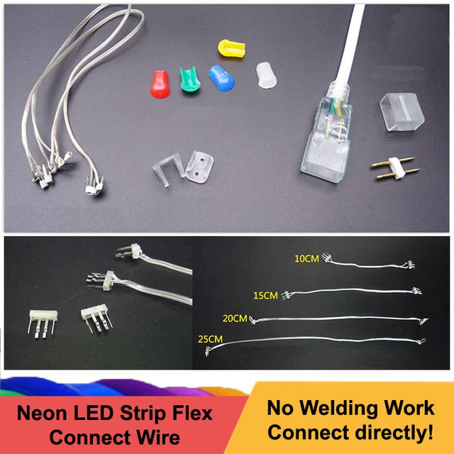 12v Neon Led Strips Mid Connection Connectors Flexible Led Strip Installation Accessories Non Welding Led Connect Wire Revie Welding Leads Led Strip Connectors