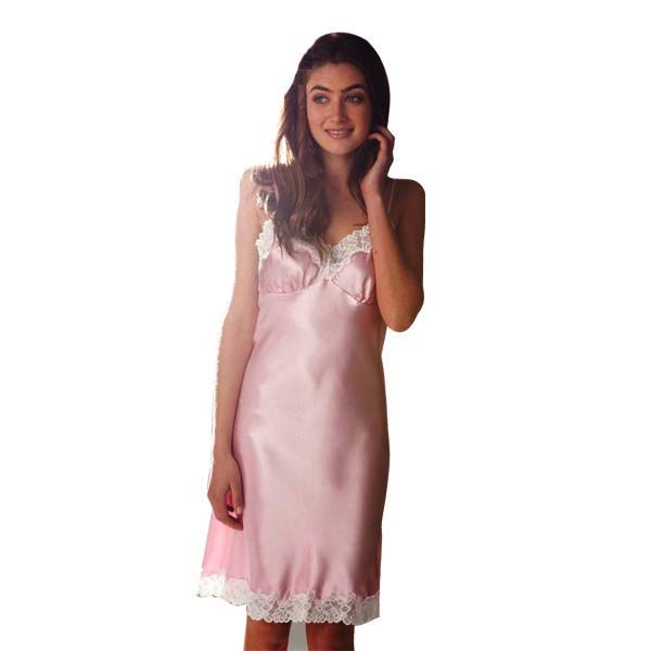 Pink Satin Chemise by Pillow Talk | Pyjamas.com.au