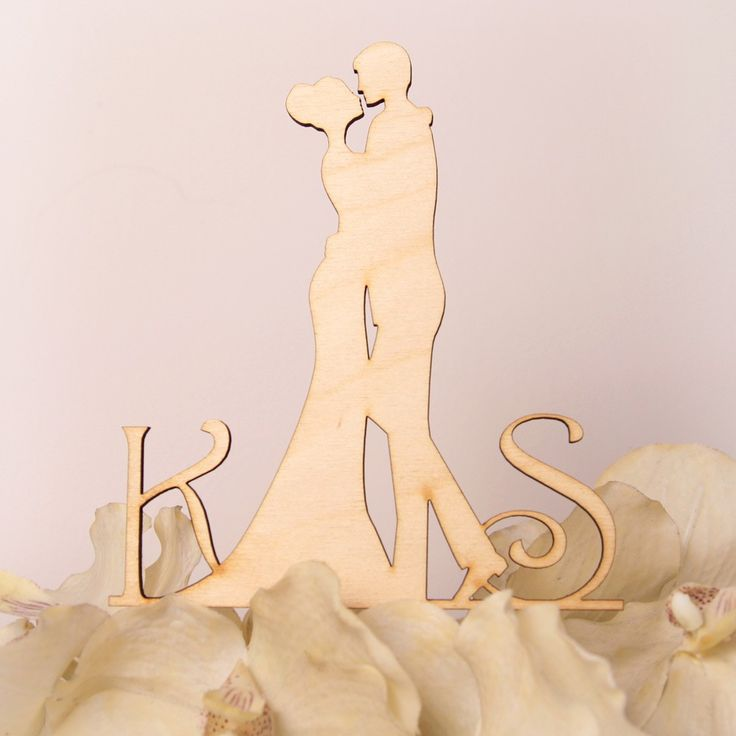 Drewniana, wycinana laserowo figurka na tort weselny - nowość i hit sezonu!