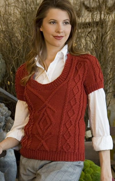 Unicorn Pattern: Short Sleeve Cable Vest - Complimentary Knitting Pattern