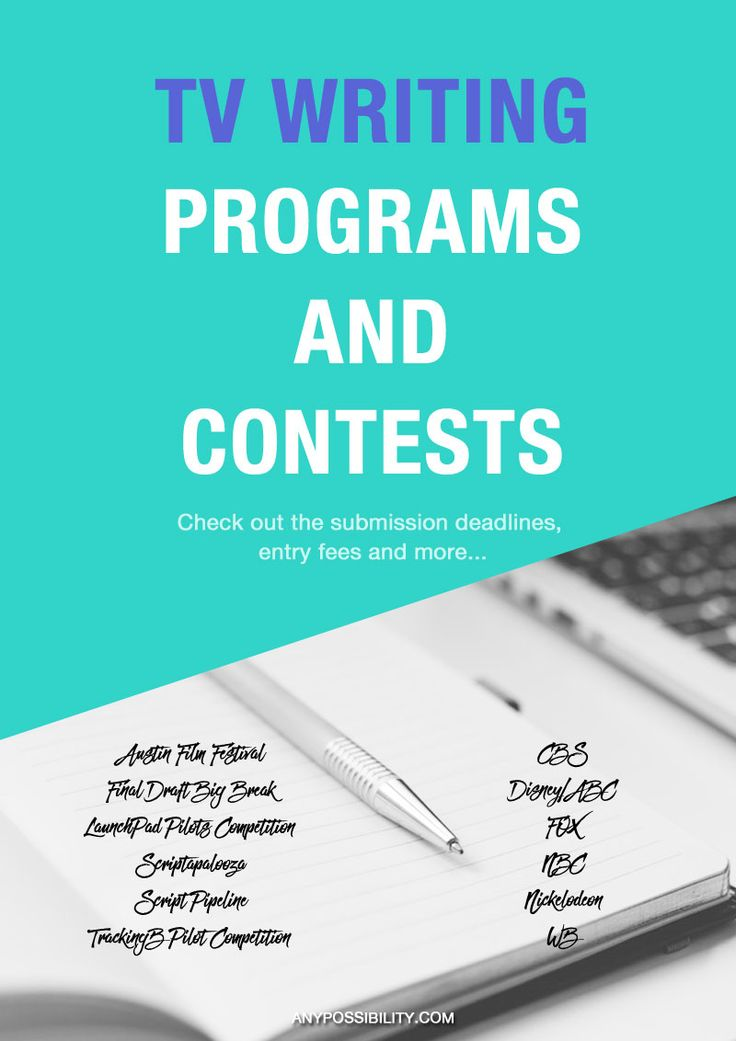 Check Out These TV Writing Programs and Contests! #screenwritinggoals #entertainment industry