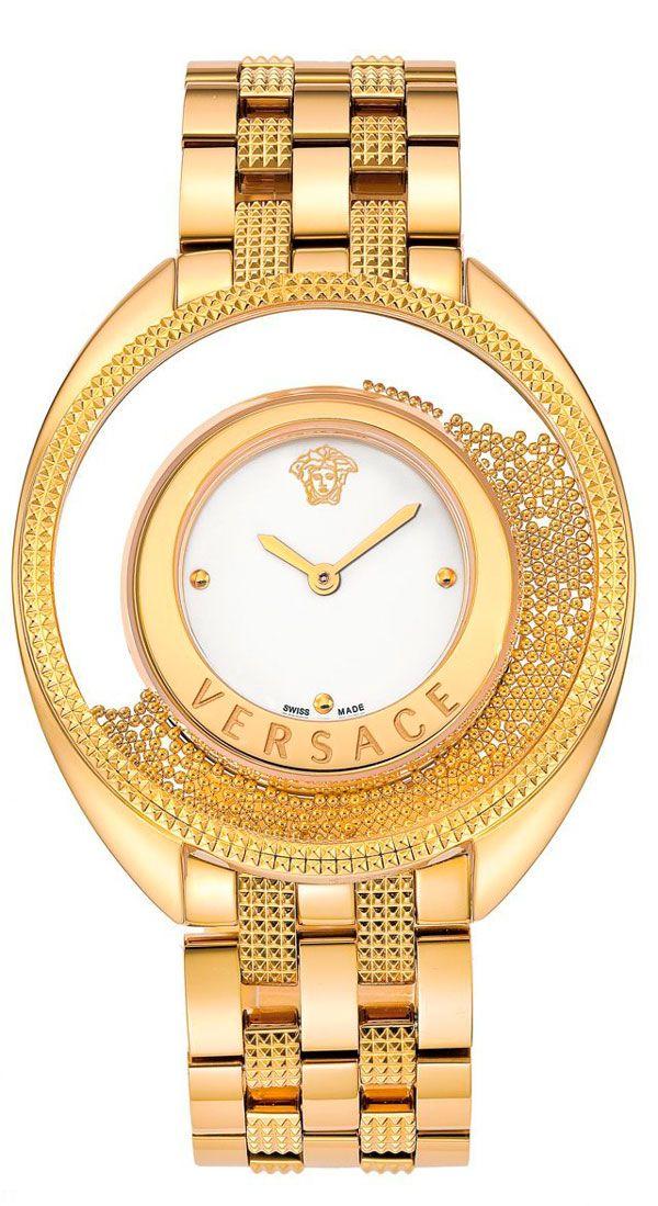 Cómo se chapan los relojes dorados en oro: Reloj Versace para mujer dorado en I.P. en oro amarillo ref. 86Q70D002-S070