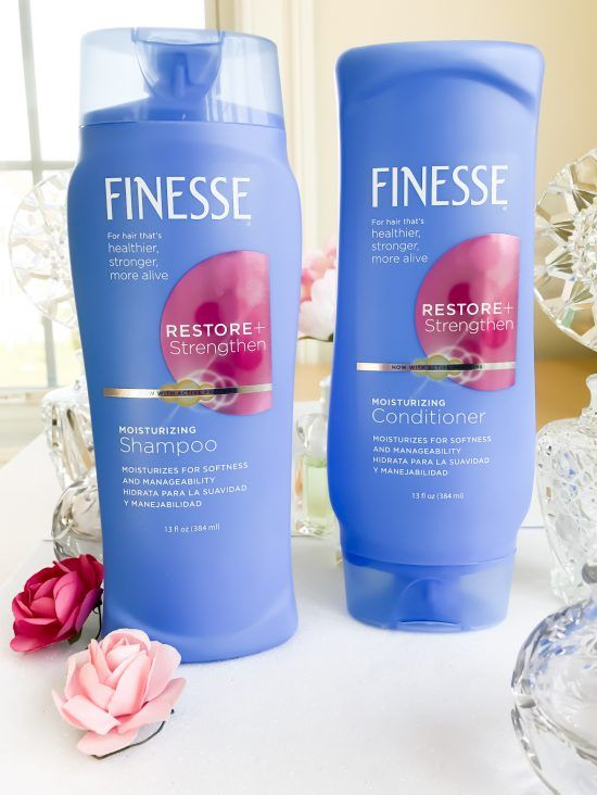 Review: Finesse Restore + Strengthen Moisturizing Shampoo and Conditioner (I Got Kendall Jenner's Look!)