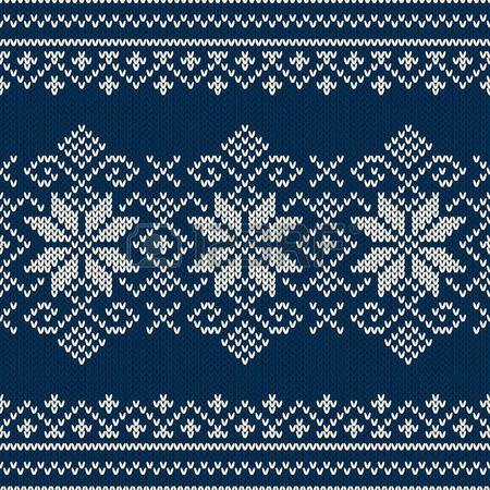 Diseño del suéter de las vacaciones de invierno en el punto de lana de textura. Patrón sin fisuras Foto de archivo