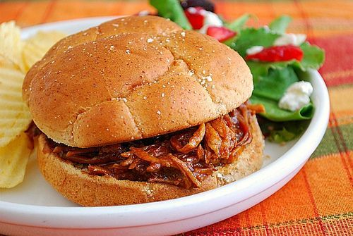 Root Beer Pulled Pork Sandwiches for crockpot - freezable, I'd imagine, too!