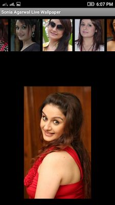 Sonia Agarwal 3D live Wallpaper For Android Mobile Phone