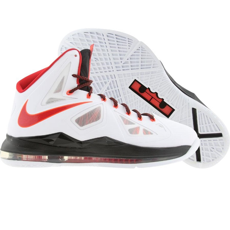 Nike Men LeBron X (white / university red / black / total crimson) 541100