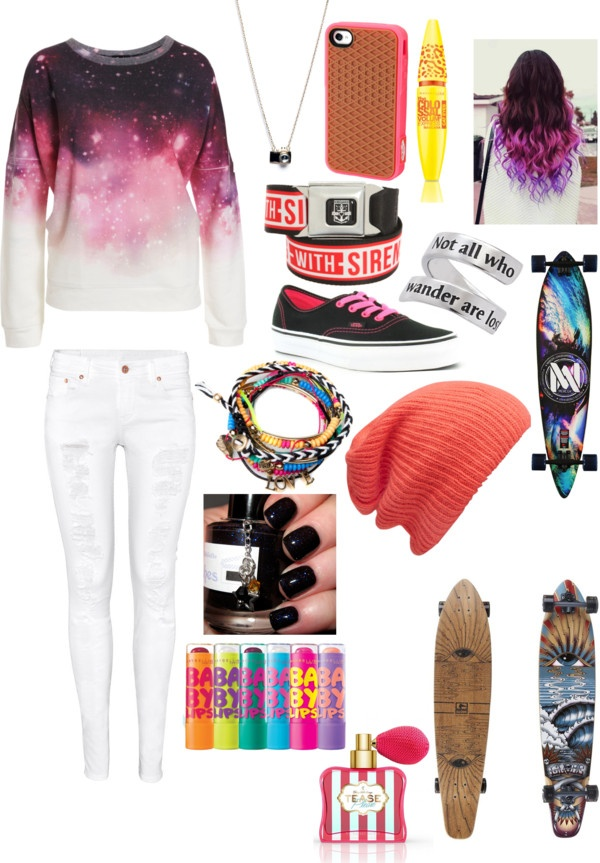 """longboarding outfit"" by wheat-thins ❤ liked on Polyvore"