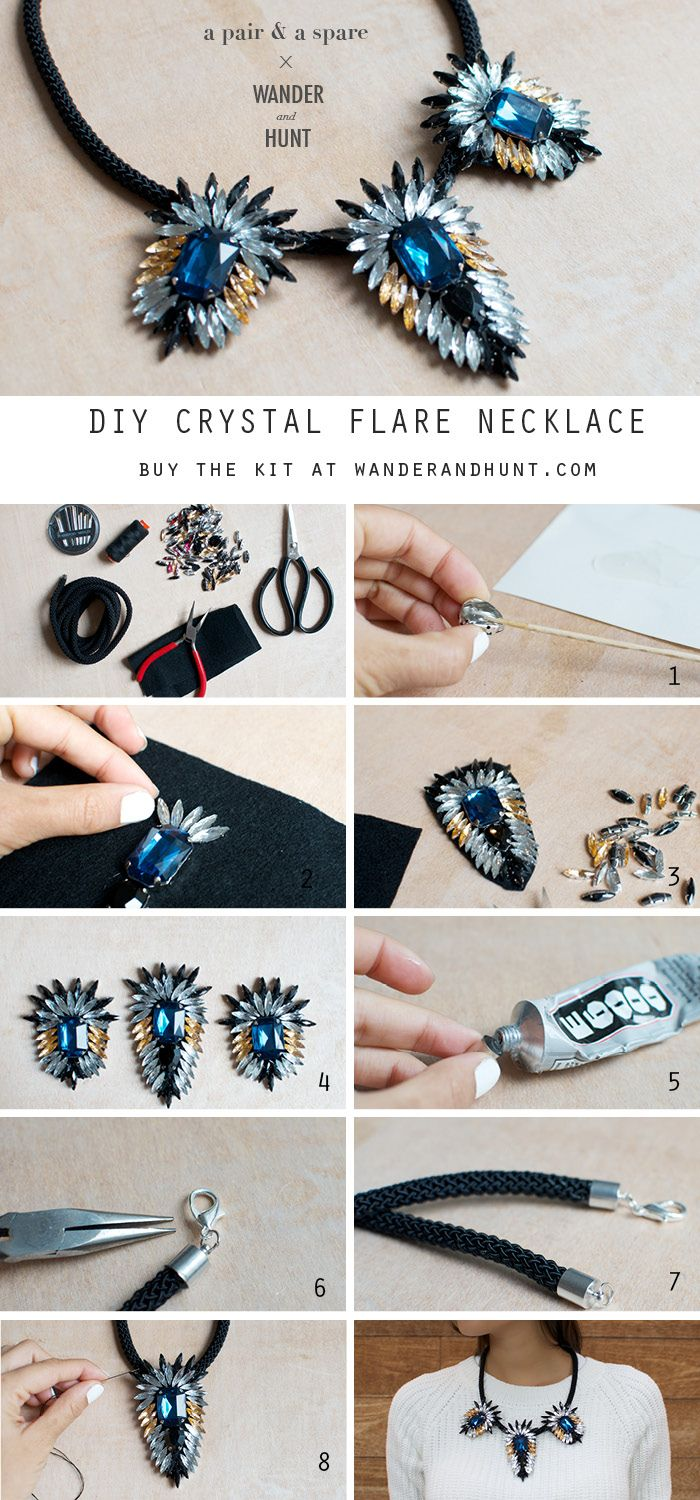 DIY Crystal Flare Necklace | Wander & Hunt DIY Supplies