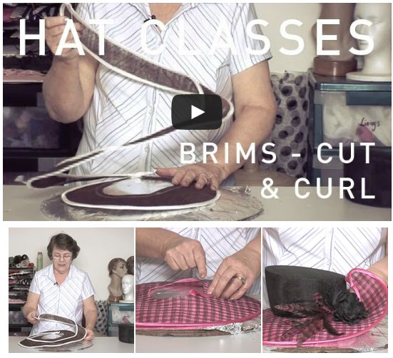Cutting and curling your #millinery adds movement and life to designs. During this tutorial you are instructed how to wire and bind the cut shaping. Dare to reinvent a boring brim or add flair to a hatinator!  Watch trailer here: http://hatacademy.com/group/lesson-14-creative-brims-5  #hats #HatAcademy