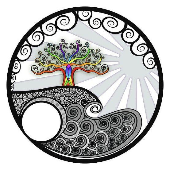 ☮ American Hippie Psychedelic Art ~ Tree of Life Mandala