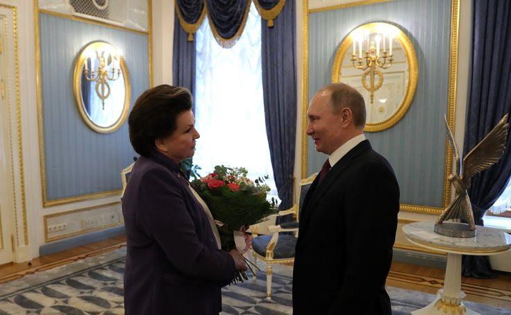 Meeting with Valentina Tereshkova.