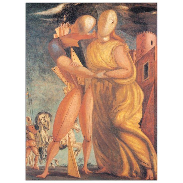 DE CHIRICO - Hector and Andromache 53x72 cm #artprints #interior #design #art #prints  Scopri Descrizione e Prezzo http://www.artopweb.com/EC21798