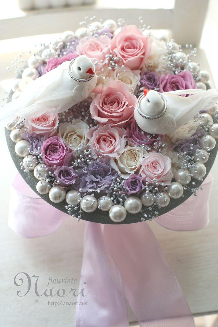 白いハトのリングピロー Pigeon Marriage Wedding Ring pillow 2015