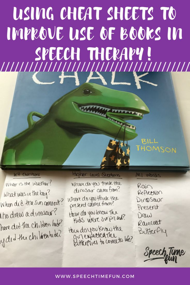 Using Cheat Sheets To Improve Use Of Books in Speech Therapy:  Stay prepared and organized and work on a variety of speech and language goals!  Ideas for mixed groups too!