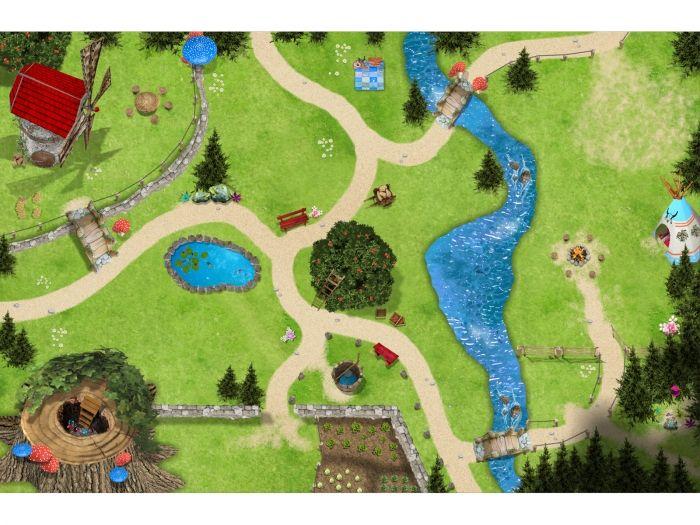 Cool Zauberwald Spielmatte Spielteppich f r das Kinderzimmer