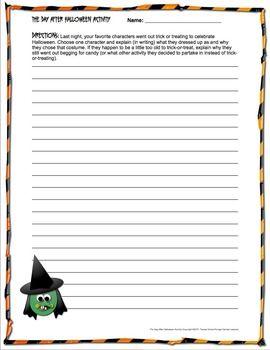 halloween creative writing printables Halloween activities and halloween lesson plan ideas, halloween autumn fall   in this halloween idea, language arts students write advertisements about.