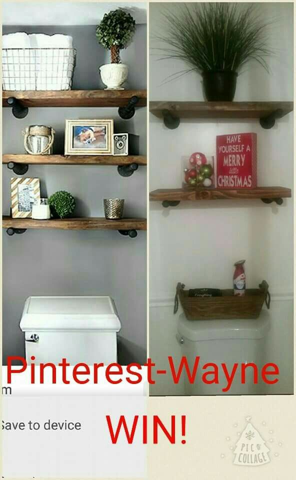 Bathroom Shelves Restoration Hardware Dupe My Pinspirations Pinterest