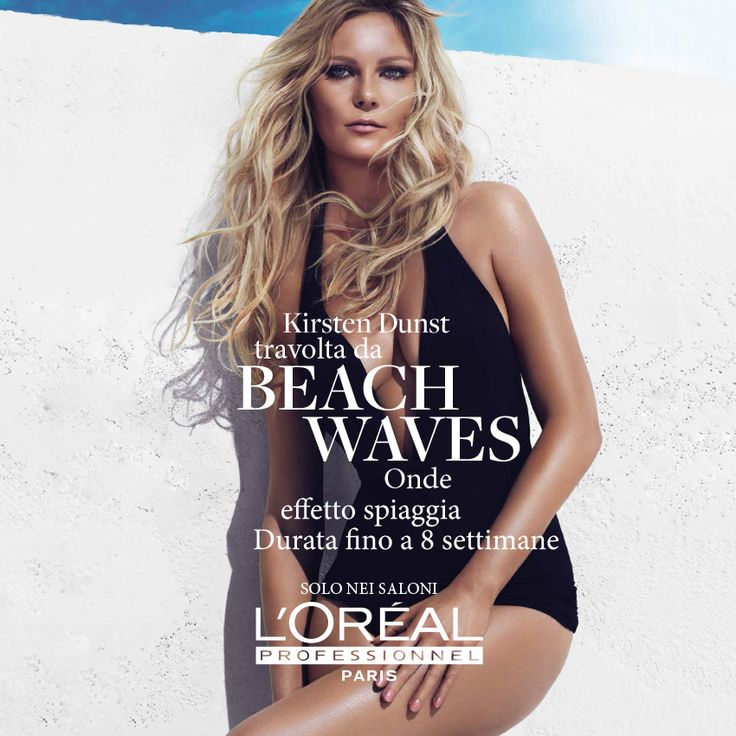 Kirsten Dunst testimonial per Beach Waves by L'Oréal Professionnel #beach #waves #hair #lorealprofessionnel #lorealpromuse