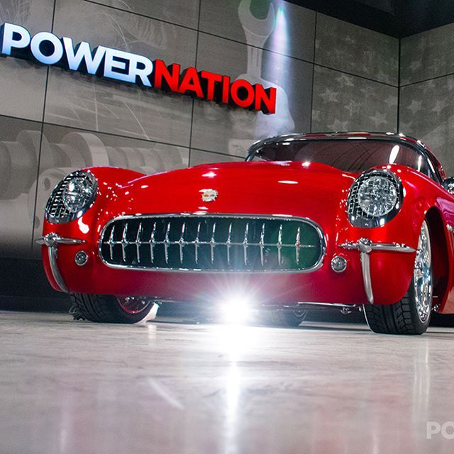 Check out this beautiful '54 Vette that was a 2017 Ridler Great 8 award winner! Katie talks with owner-builder Larry Griffey about the 6 year labor of love that went into this build Sunday on @spiketv at 9am ET #powernationtv #ridleraward #great8 #corvette #custom #builds